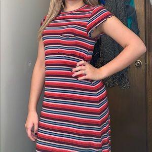 American Eagle Rainbow T-shirt Dress